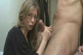 Horny Milf With Glasses Facial