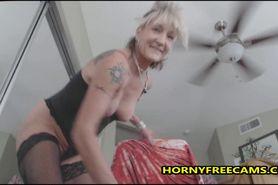 Kinky British Mature Fucks Fake Man Toy