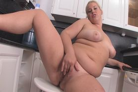 Hot Young Blond Chubby Teen Plays in Kitchen