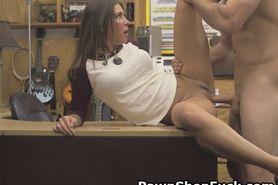 Felicity Feline Banged On A Desk