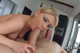 Lucy Heart gets off while humping cock in ass