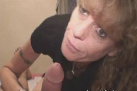 Frizzy Haired Street Whore Sucks Dick