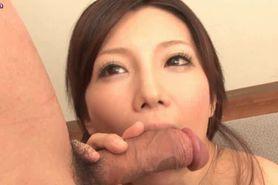 Busty asian slut licks huge shift