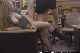 Blonde Rides And Banged On Desk