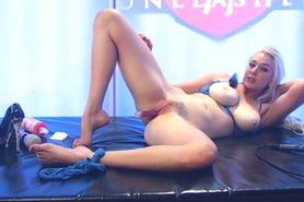 Bimbo Sapphire aka Megan Sweets nude on TV 01