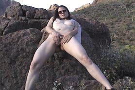 Sylvia My Horny Slut Wife Desert Clit Rubbing