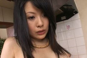 Japanese beauty gets starved cunt toyed