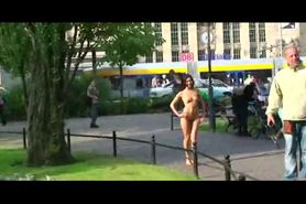 Agy Mirai - sexy babe has fun on public streets