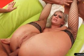 Blasted anal ass to mouth group sex