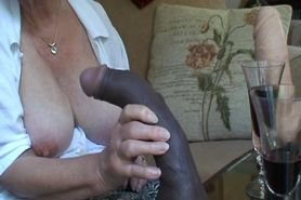 Grannys Huge Tits And Dildo