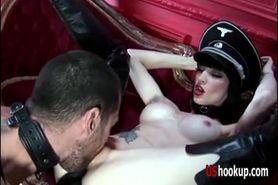 Horny slut gets her cunt fucked hard