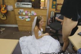 Blonde In Wedding Dress Face Fucked