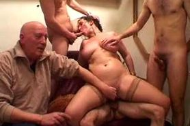 2 French slags gangbanged 1of2