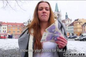 European slut Dominika pounded for money