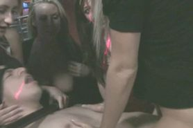 Blonde Takes Facial In Front Of Friends