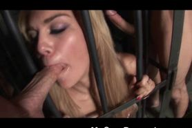 Blonde Slut Tied Up And Used As A Fuck Toy