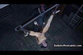 Extreme BDSM Head Down Suspension!