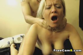 Blonde Hottie Pussy to Mouth Fuck and Facial