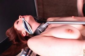 Busty redhead lesbo tortured and bonded by hot mistress