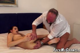 Old Shaggy Perv Fucks Younger GF