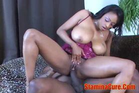 Hot Ebony Ride On A Big Black Cock