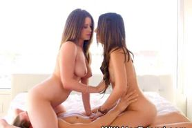 Very Pretty Teen Best Friends Riding Face And Dick