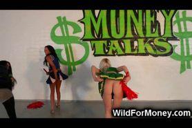 Wild Cheerleading for Money!