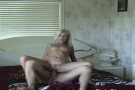 Cheating Blonde Housewife Cumshot