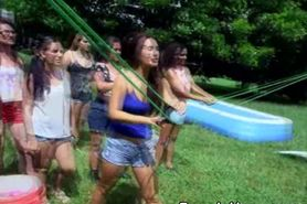 Naked College Girls Outdoor Hazing