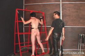 Sex slave in chains taking a hardcore BDSM sex treatmen