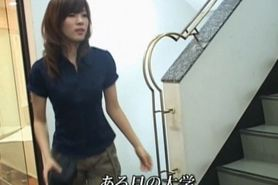 Asian teen babe gets hairy cunt played with in public