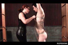 Male sex slave gets badly tide up for torture