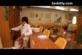 Waitress Sucks Cock In A Restaurant - Japanese