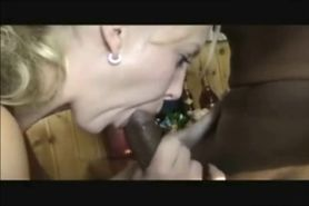 Blonde Sucks BBC & Gets a Facial
