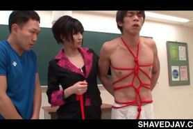 Nasty jap teacher using her students as sex slaves in 3