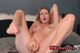 Cute Blonde Teen Plays her Tight