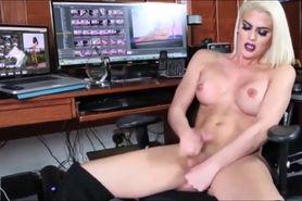 Horny shemales masturbating