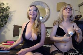 Two hot lesbians housewives
