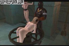 3D animation spanking