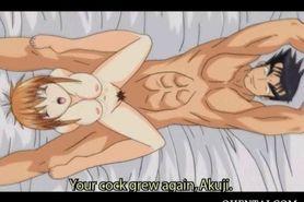 Anime babe sucks and fucks cock like a slut