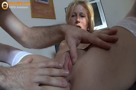 Amateur blonde wife home video