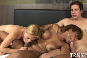 Tranny gets her ass creamed