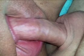 BBW Gets her Shaved Pussy Creamed