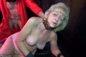 OldNanny Old mature whiped and fucked with horny g