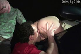 Kitty Jane car window PUBLIC gangbang