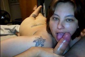 Busty Amateur Girl Sucks Cock