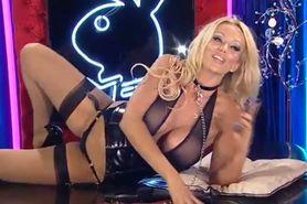 Bimbo Lucy Zara chat on TV 14 pvc lingerie