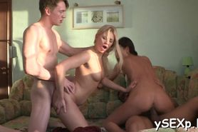 Slut cums during rough sex