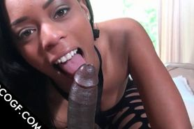 Choco snatch licked and masturbated in POV