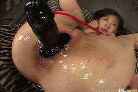 Milf with hot ass receives toys inside